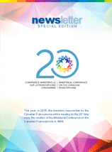 Ministerial Conference on the Canadian Francophonie Newsletter